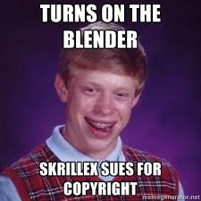 Meme Generator Copyright - bad luck brian skrillex know your meme