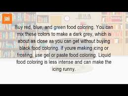 how do you make gray food coloring youtube