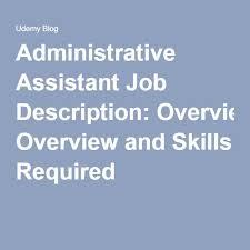 Executive Assistant Job Description Resume by Best 25 Administrative Assistant Job Description Ideas On