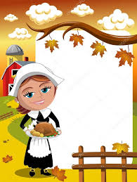 thanksgiving day background pilgrim roast turkey vertical