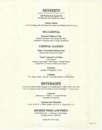 carnival cruise newest three day menus