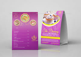 Table Tents Template Cake Shop Table Tent Template By Owpictures Graphicriver