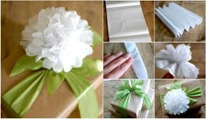 gift tissue diy easy tissue paper flower gift topper