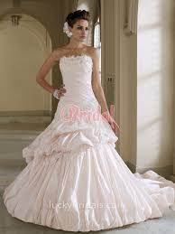 hem wedding dress 3d flowers blush taffeta dropped waist up hem bridal