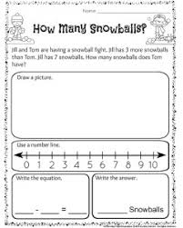 grade 1 math word problems worksheets 1st grade december math and literacy worksheets planning playtime