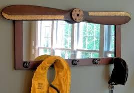 wood propeller coat rack mirror a simpler time