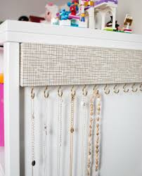 Wall Mounted Paper Organizer Easy Diy Jewelry Organizer For Tangle Free Necklaces Merriment