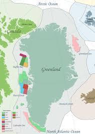 Greenland Map Greenland Arcticecon