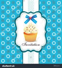 Cherry Cupcake Invitation Card Royalty Cupcake Invitation Background 04 Stock Vector 68380465 Shutterstock