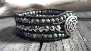 leather cuff wrap bracelet images African turquoise cuff leather wrap bracelet southwestern chic jpg