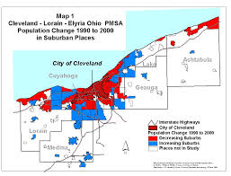 Map Of Chicago Suburbs Population Change In Suburbs 1990 To 2000