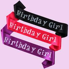 happy birthday sash diy party decoration birthday wedding sash event party supplies