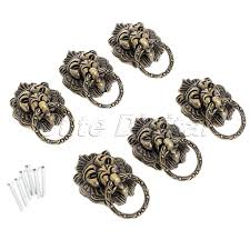 6pcs bronze chinese door handle wardrobe handle kitchen knobs