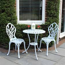 B Q Bistro Chairs This Charles Bentley Garden 3 Piece Tulip Cast Aluminium Patio