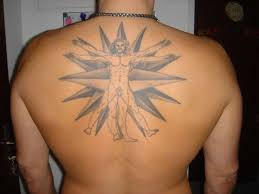 man with navigation star tattoo