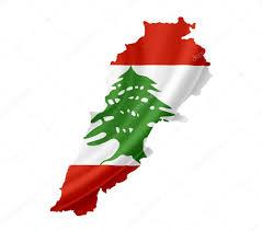 Libanese Flag Map Of Lebanon With Waving Flag Isolated On White U2014 Stock Photo