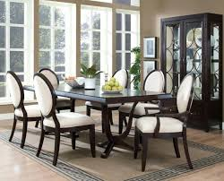 Silver Dining Chairs Dining Interior 1960s Glazed Silver Leaf Round Dining Table And