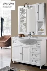 armadietto bagno con specchio mobile sottolavabo con lavabo e specchio ilaria 105 cm per arredo