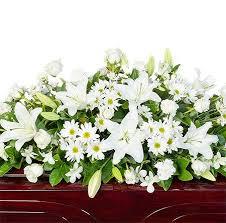 funeral casket funeral casket flowers mixed white