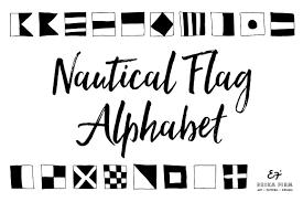 nautical flag alphabet symbol fonts creative market