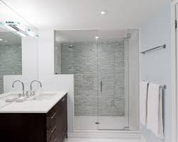 bathroom accent wall ideas inspiration for a contemporary bathroom remodel in toronto with an