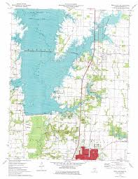 Road Map Of Illinois by Rend Lake Dam Topographic Map Il Usgs Topo Quad 38088a8