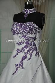 Purple Wedding Dresses Mzy1426 Real Samples Strapless Purple Lace Appliques Organza A