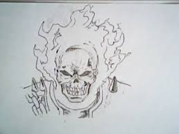 ghost rider drawing frontal face marvel comics youtube