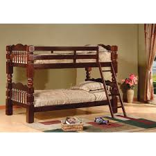 Cherry Bunk Bed Carved Spindle Esprit Cherry Finish Bunk Bed Free Shipping Today