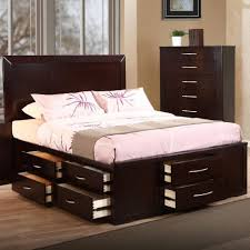 Queen Beds With Storage Bed Frames King Size Bed With Storage Drawers Underneath Queen