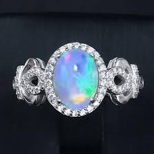 natural stone rings images Genuine natural fire opal ring solid 925 sterling silver gem stone jpg