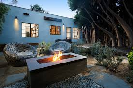 backyard designs with fire pits landscape contemporary with cast