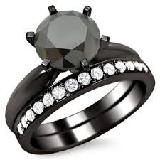 black wedding bands for black bridal jewelry sets shop the best wedding ring sets deals