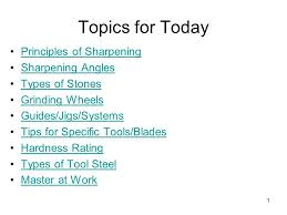 topics for today principles of sharpening sharpening angles ppt