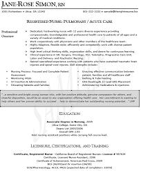 Pacu Nurse Job Description Resume by Nurse Resumes Icu Nurse Resume Sample Free Resumes Tips