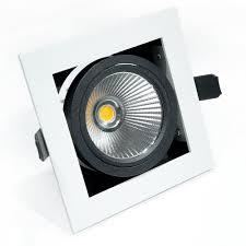arrow single recessed multi tilt square 10w dimmable led spotlight