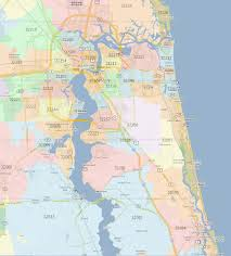 Zip Code Map Orlando by Jacksonville Zip Code Map Zip Code Map