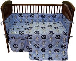 unc baby crib bedding north carolina tarheels baby crib set