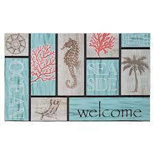 Mohawk Home Wipe Your Paws Recycled Rubber Indoor Outdoor Door Mats Mats The Home Depot