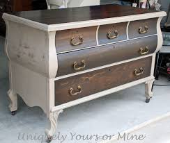 Paint Wood Furniture by Beautiful Wood Finish And A Complimentary Paint For Contrast