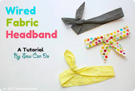 fabric headband sew can do knock it store inspired tutorial wired fabric