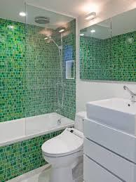small bathroom tile ideas green mozaic glass tiles durable and