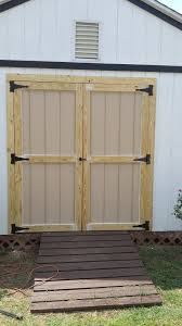 craftsman vertical storage shed brand new shed doors installed for client old door was rotting