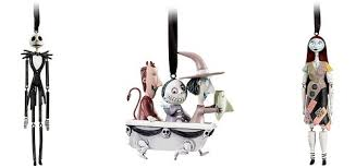 disney nightmare before set of 3 tree ornaments hinged