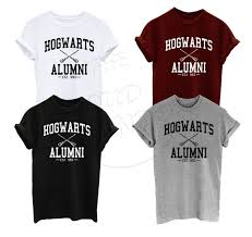 alumni tshirt 2017 summer t shirt hogwarts alumni harry inspired magic camisetas