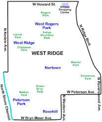 40th ward chicago map west ridge chicago wikiwand