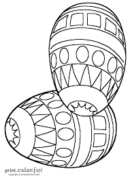 decorated easter eggs coloring page print color fun