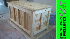 Build A Toy Chest by 2x4 Half Lap Blanket Chest 089 Youtube