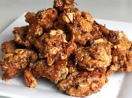 sweet crispy fried chicken dakgangjeong recipe maangchi com