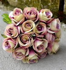 wedding flowers ebay silk wedding bouquets artificial posy roses purple edge